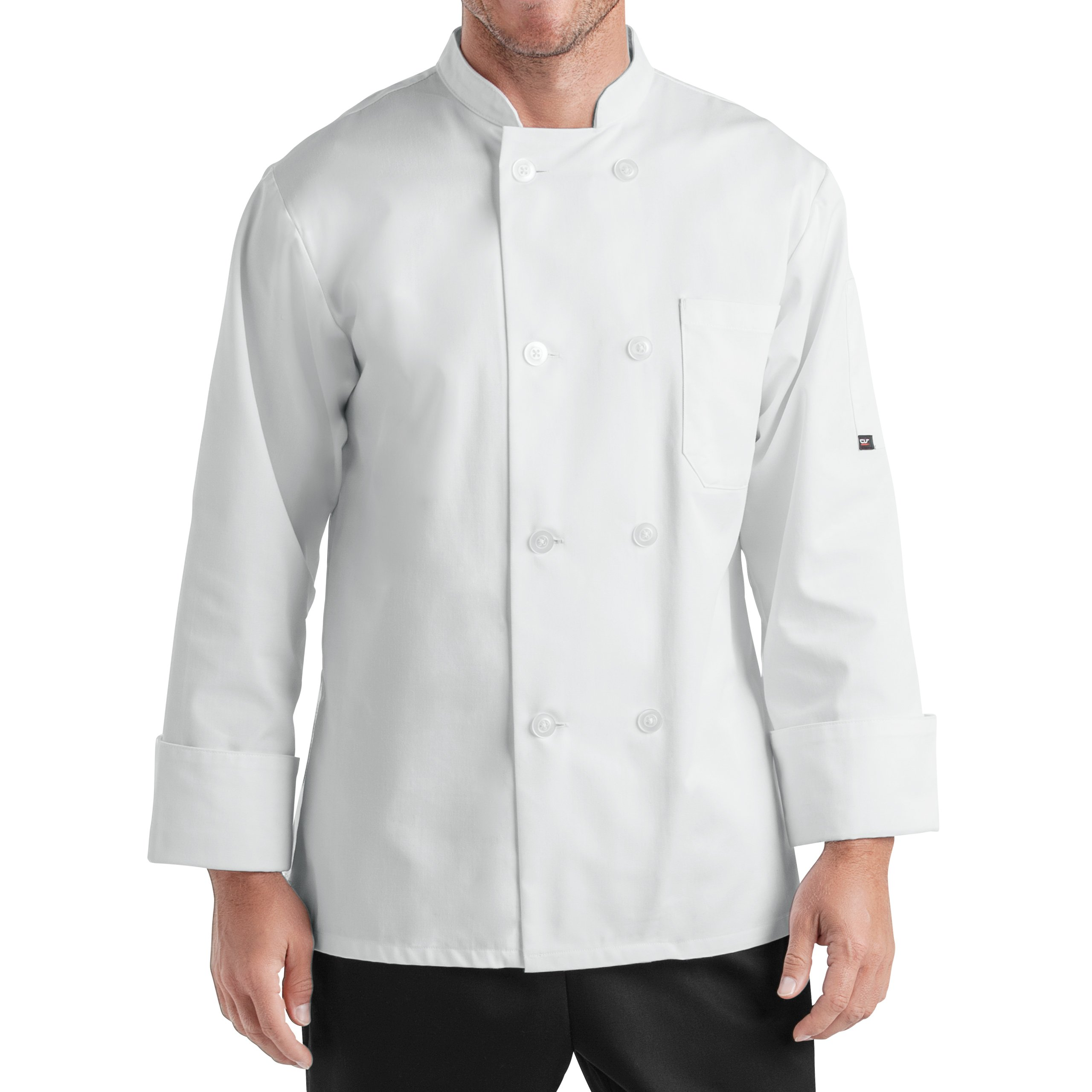 On The Line Men's Long Sleeve Chef Coat (S-2X, 2 Colors)