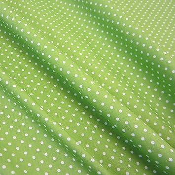 91b37893b5c28 Stoff Baumwollstoff Baumwolle Popeline Punkte gepunktet Tupfen grün  apfelgrün weiß 2mm