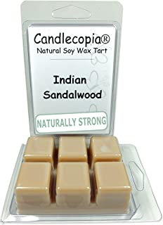 product image for Candlecopia Indian Sandalwood Strongly Scented Hand Poured Vegan Wax Melts, 12 Scented Wax Cubes, 6.4 Ounces in 2 x 6-Packs