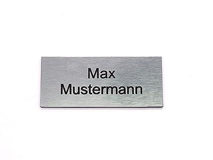targhetta per cassetta delle lettere // per la porta in 6 dimensioni in acciaio inox con incisione personalizzata Argento