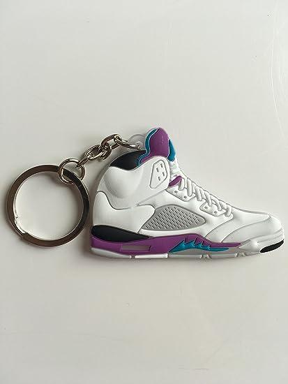 SneakerKeychainsNY Jordan Retro 5 UVA Zapatillas Llavero ...