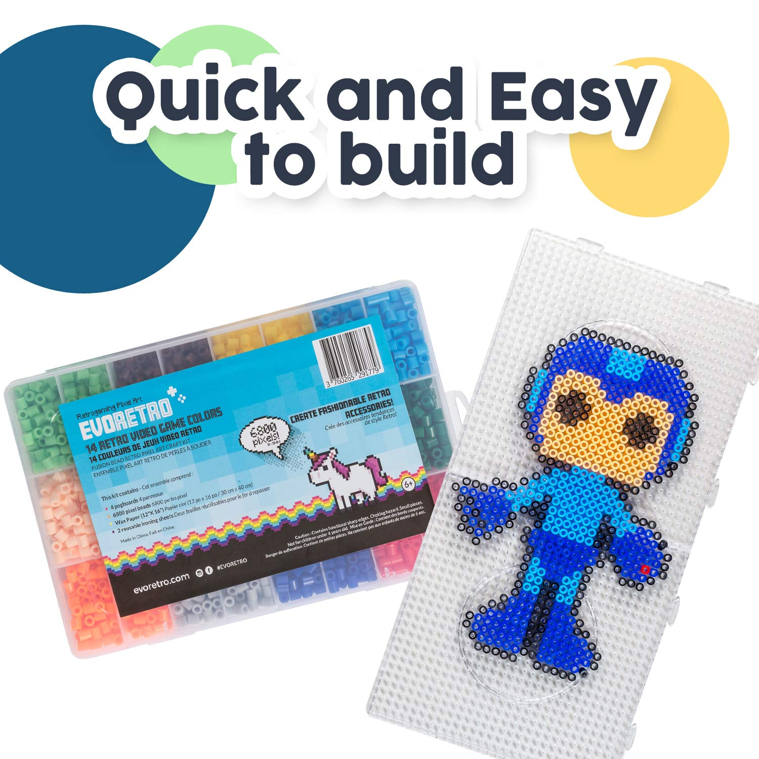 Retro Video Games Characters Fuse Beads Kits With Peg Boards By Evoretro Large Kit Designs Fashion