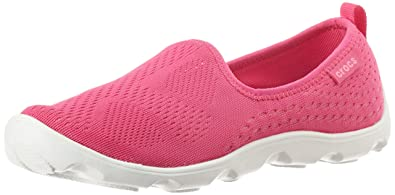 Crocs Women Duet Busy Day Xpress Mesh Skimmer Shoes, Candy Pink Lemonade, US 7