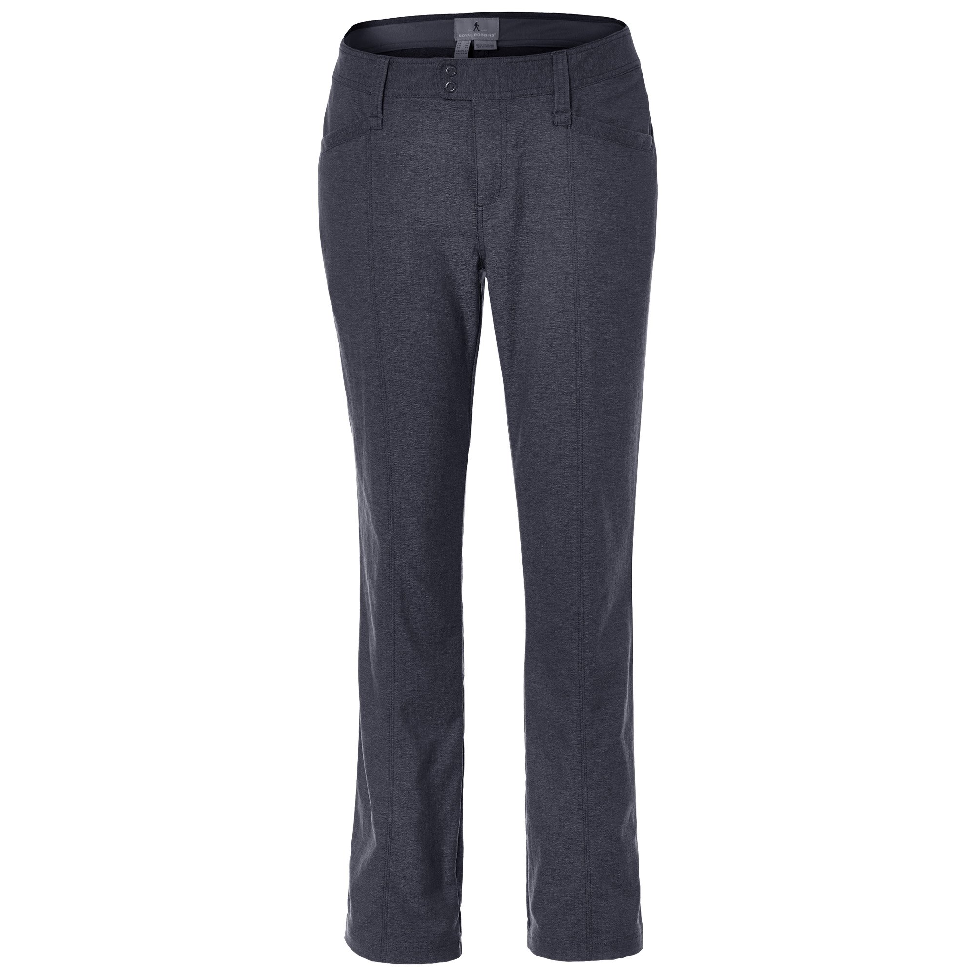 Royal Robbins Women's Herringbone Discovery Strider Pants,CHARCOAL,14-Regular