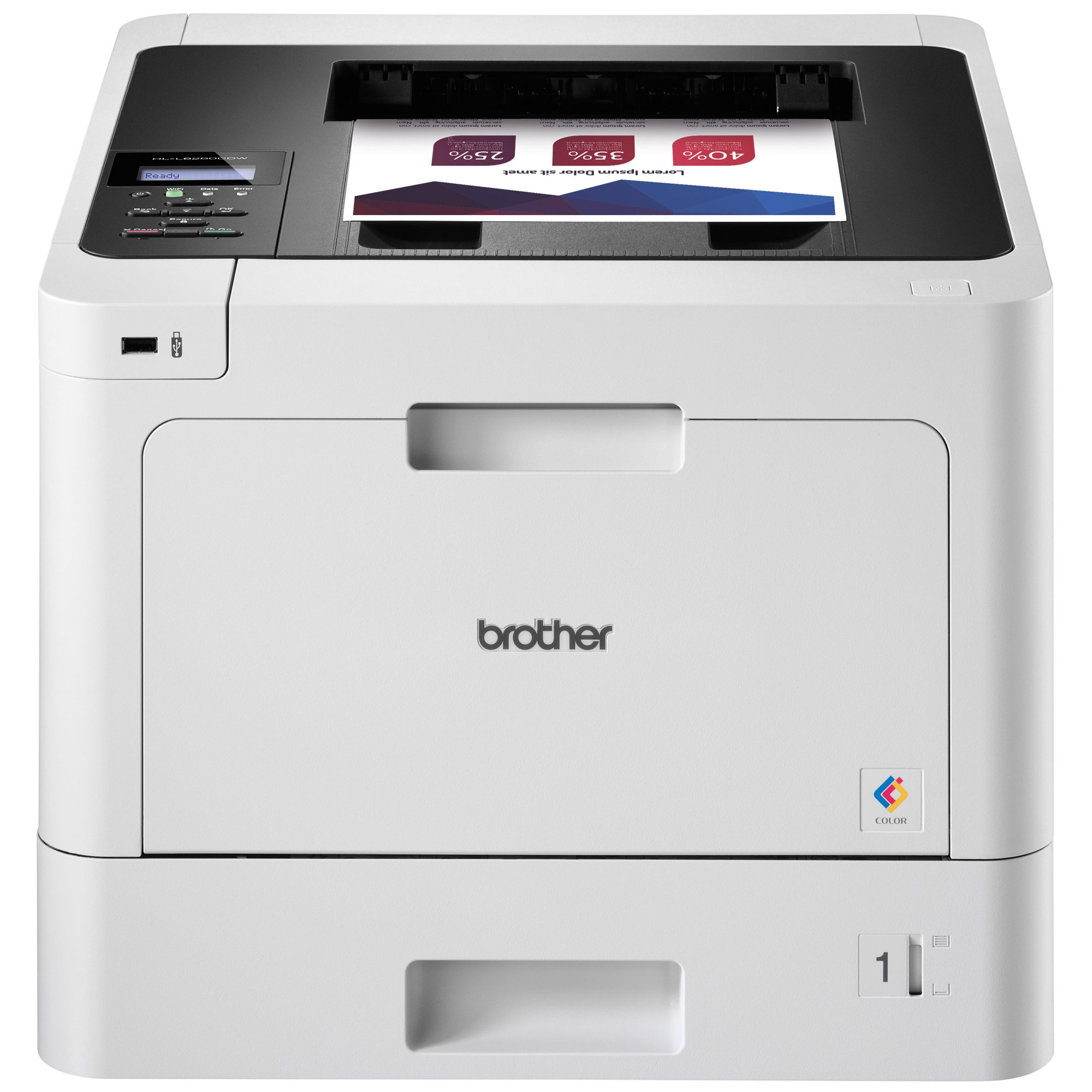 Brother Printer HLL8260CDW Business Color Laser Printer with Duplex Printing and Wireless Networking, Amazon Dash Replenishment Enabled by Brother