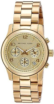 85b60d0d5174 Amazon.com  Michael Kors Midsized Chronograph Gold Tone Womens Watch ...