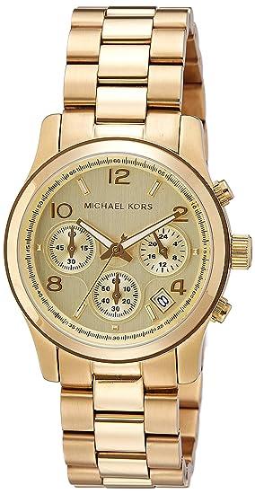 Amazon.com  Michael Kors Midsized Chronograph Gold Tone Womens Watch  MK5055  Michael Kors  Watches ce59aa40db