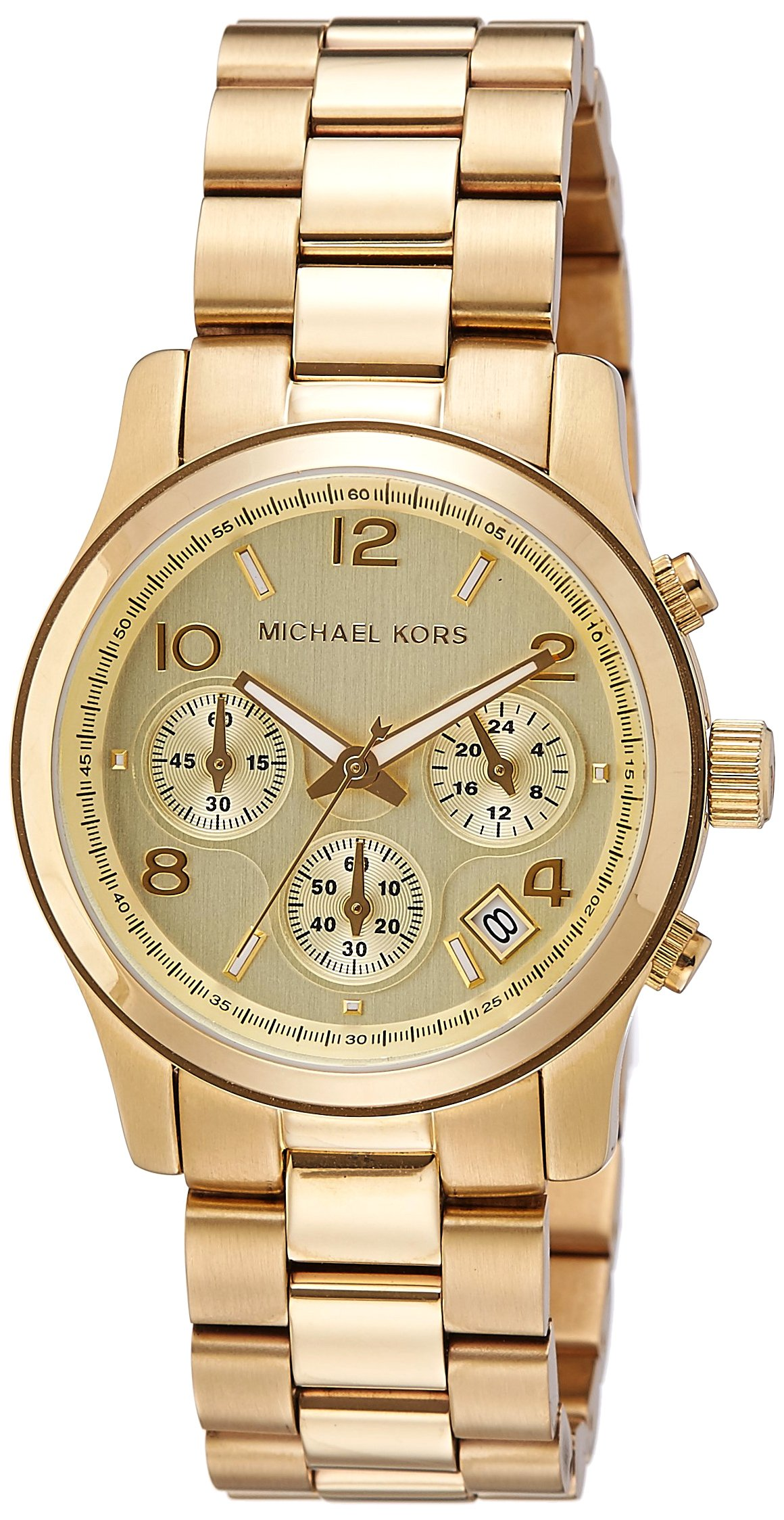 Michael Kors Midsized Chronograph Gold Tone Womens Watch MK5055 by Michael Kors