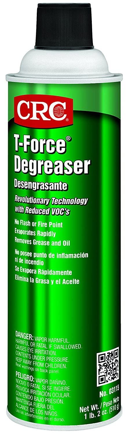 CRC T-Force Degreaser, 18 oz Aerosol Can, Clear: Industrial Degreasers: Amazon.com: Industrial & Scientific