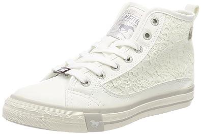 1146-507-1, Baskets Hautes Femme, Blanc (Weiß 1), 41 EUMustang