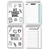 CUPCAKES & KISSES 2er To-Do Liste Sparset / Block zum Abhaken / praktisches Ringbuch / DIN A6 / ingesamt 100 Blatt / Zettel / Planer für Aufgaben