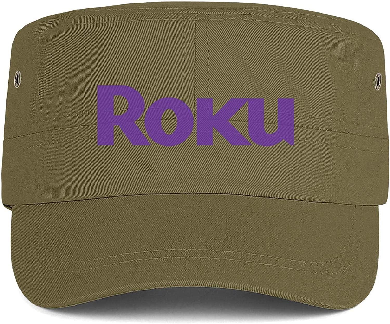 Roku Logo Men Women Hats Snapback Military Cap Army Hat Adjustable Fits Caps