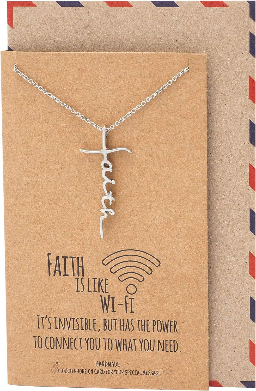Quan Jewelry WiFi Faith Pendant Necklace, Religious Jewelry