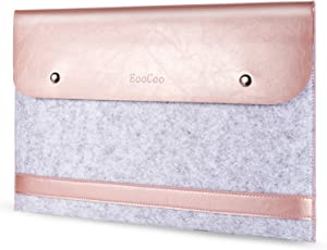 Fashion Laptop Bag Sleeve Case Briefcase Cover for MacBook Air/Pro 13 inch A2289 A2251 A2179 A1932 A2159 A1989 A1706 A1708 A1466 A1369 A1502 A1425 MZB16 - Rose Gold
