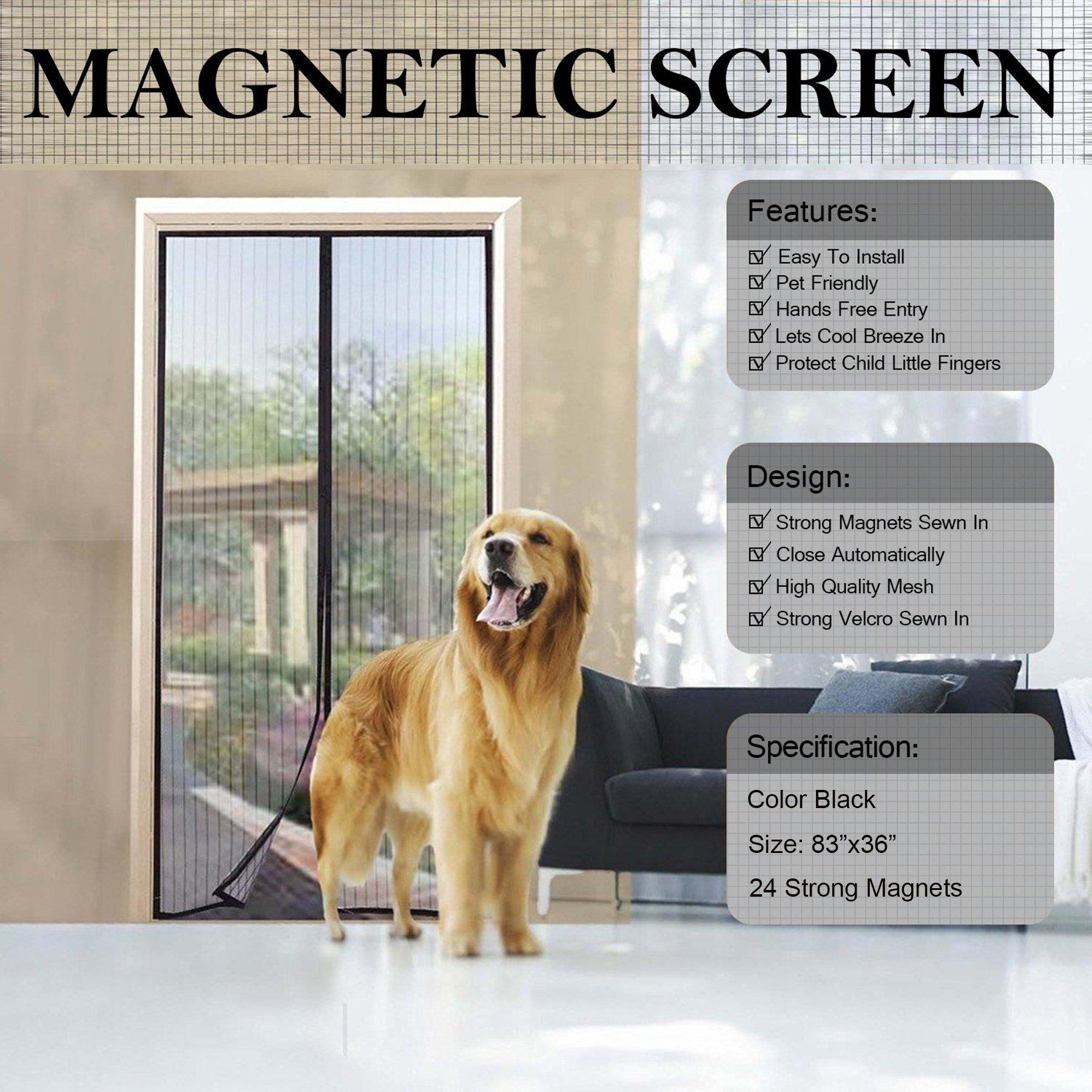 Magnetic Mesh Screen Door 83