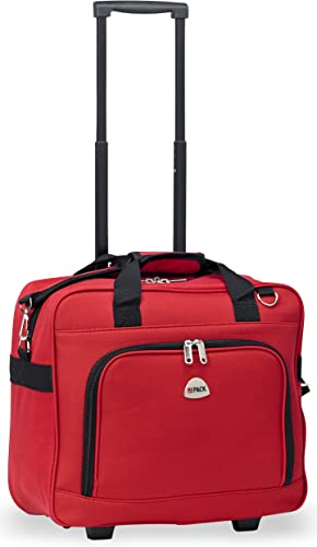 HiPack Multi-use Rolling Trolley Overnight Bag-TSA Approved Carryon Red