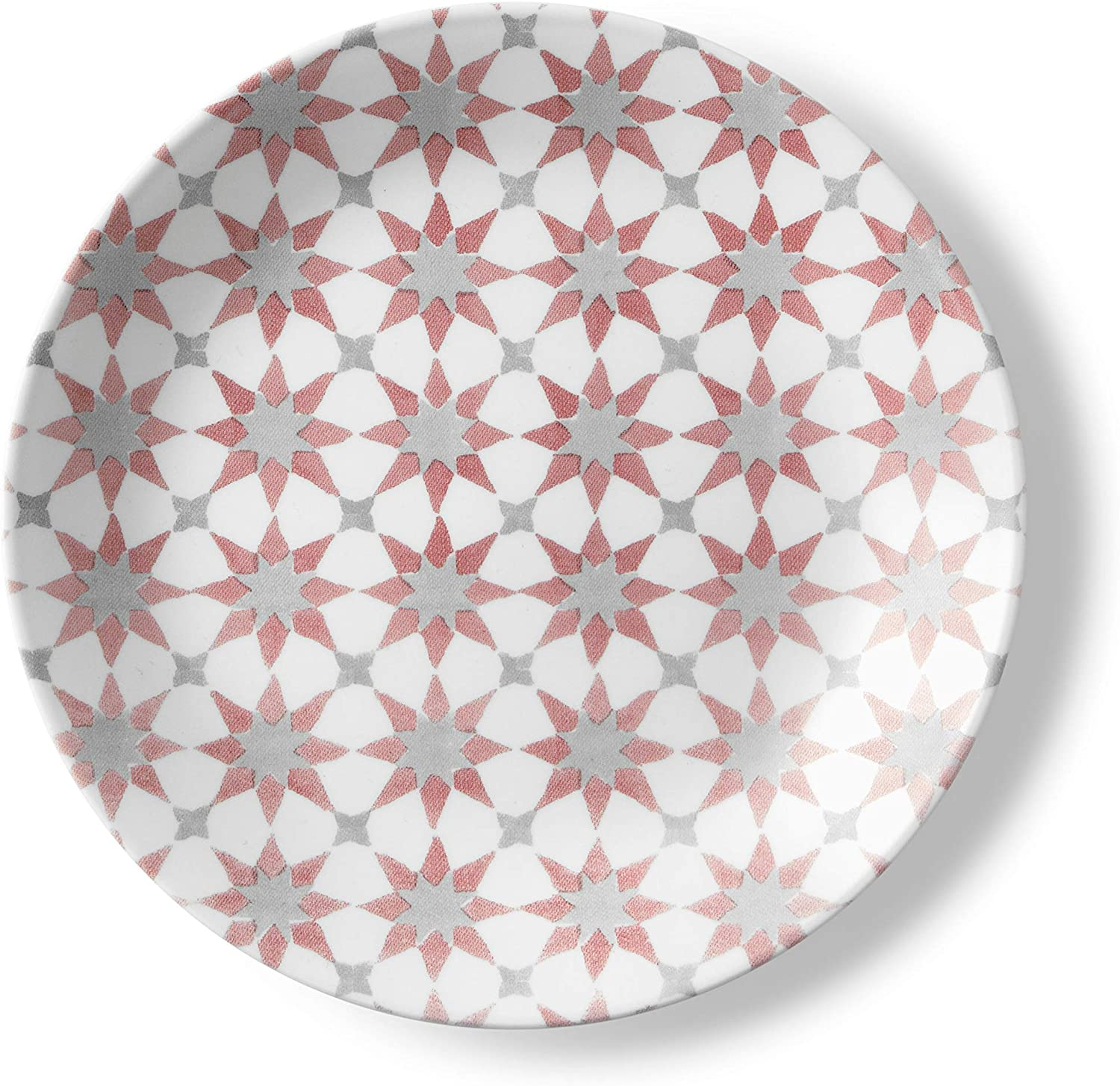Corelle 1137553 Style Collection Lunch Plates Glass Amalfi Rosa
