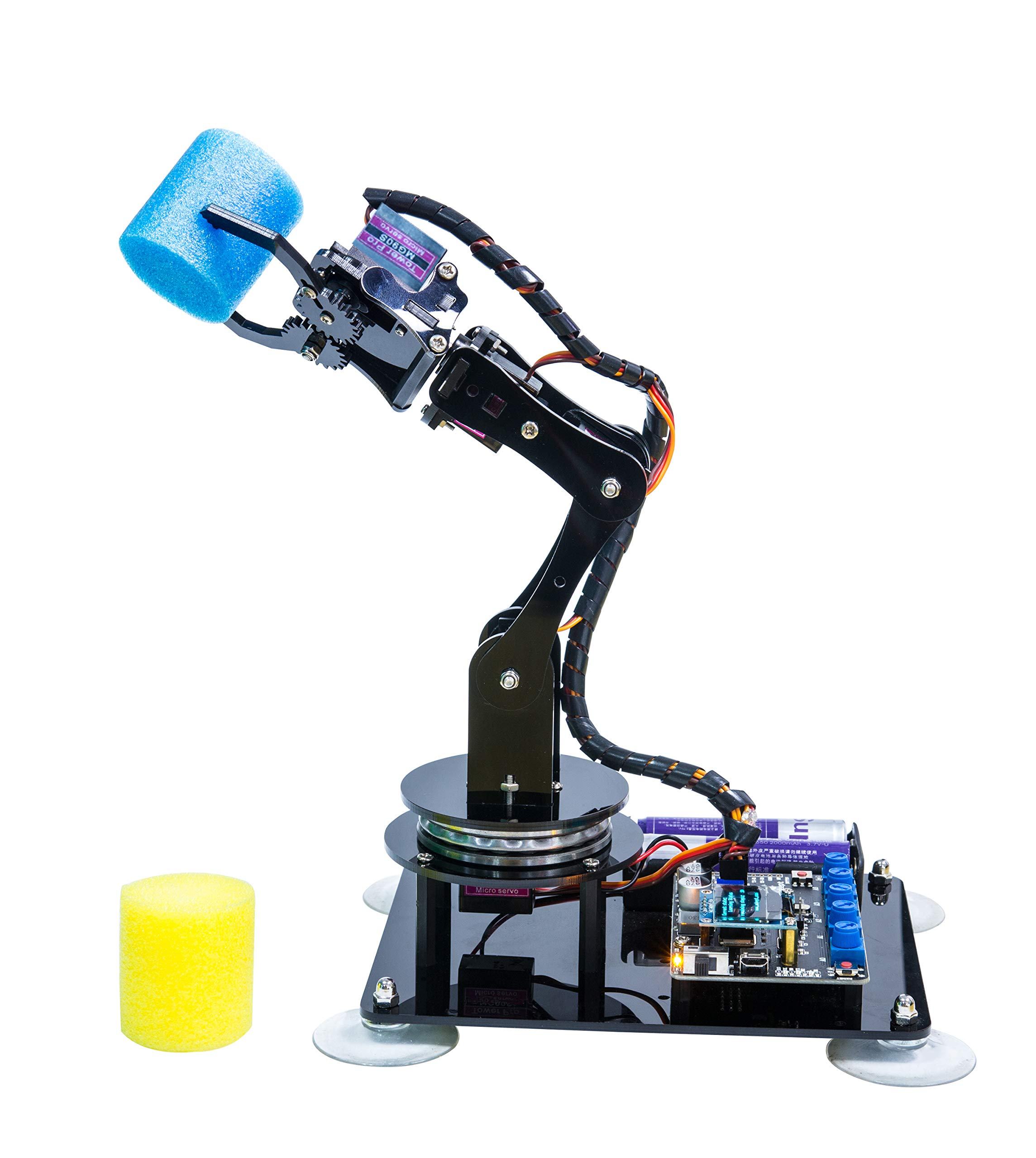 Adeept 5-DOF Robot Arm 5Axis Robotic Arm Kit Compatible with Arduino IDE   Programmable Robot DIY Coding Robot Kit   STEAM Robot Arm Kit with OLED Display   Processing Code and PDF