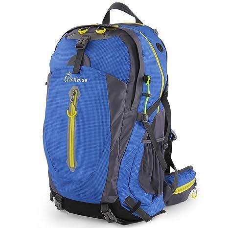WolfWise 50L Mochila de senderismo, mochila de viaje mochila de viaje, mochila impermeable con
