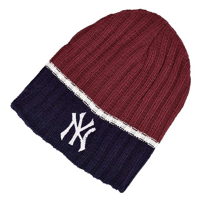 836917a7b6365 DRUNKEN NY Unisex Winter caps for Men and Winter Cap for Women Winter  Beanie Warm Knitt Woollen Cap (Red Navy