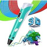 3D Druckstift Stift mit LCD Display, MYSWEETY Intelligenter 3D Printing Pen 3D Drucker Stift +3M 1,75 mm PLA Filament+Sicherheitshalter