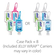PURELL Advanced Hand Sanitizer Gel, Variety Pack, 8 -1 fl oz Portable, Travel Sized Flip Cap Bottles with included JELLY WRAP Carriers (Case of 8) - 3909-09-ECSC