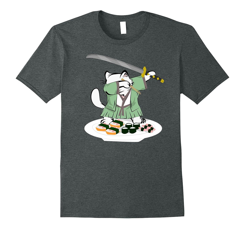 32581ab7b5 Dabbing Samurai Cat Sushi Lover Funny Meme Tshirt-ANZ ⋆ Anztshirt