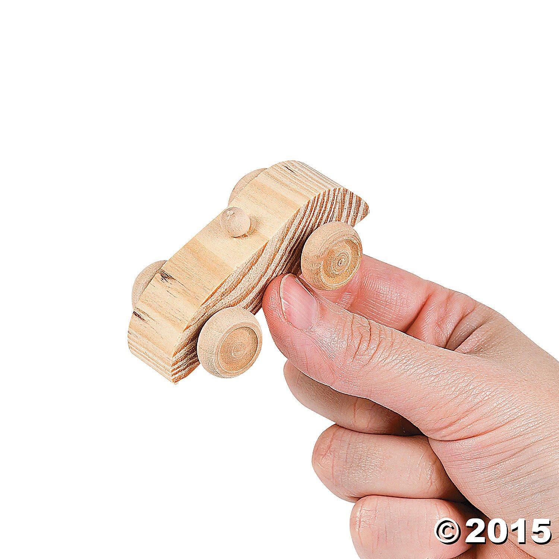 Unpainted Wooden Car Assortment (1 dz) by Fun Express