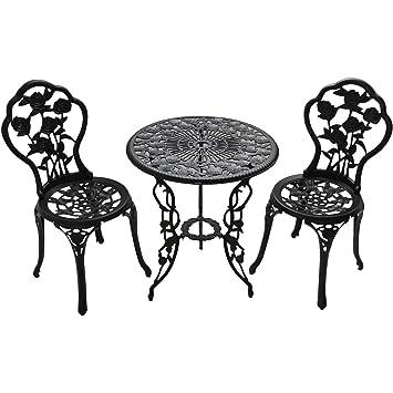 Amazon Com Patio Furniture Outdoor Garden Rose 3 Piece Bistro Set 1
