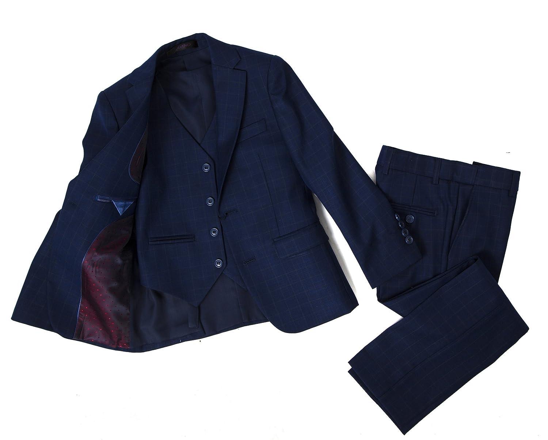Colors 2131351 Jodano Boys Formal 3 Piece Modern Fit Dress Suit Set