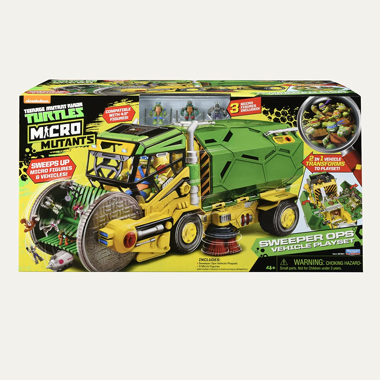 Amazon.com: Teenage Mutant Ninja Turtles Micro Mutant Sweeper Ops Deluxe  Vehicle To Playset: Toys U0026 Games