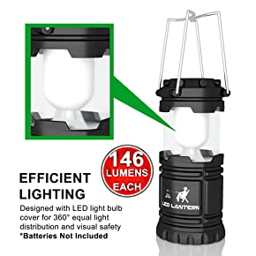 LED Camping Lantern Flashlights Camping Equipment - Great for Emergency