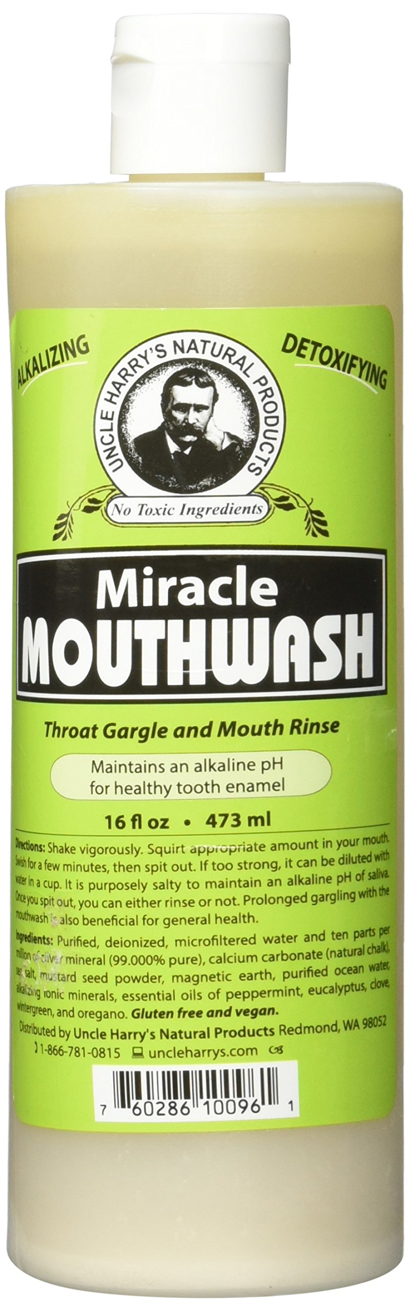Uncle Harry's Natural Alkalizing Miracle Mouthwash, 16 Fl Oz