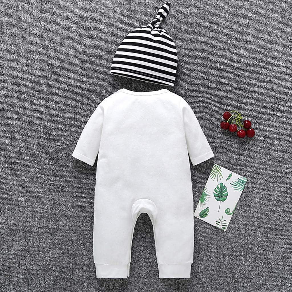 SANGQU Newborn Baby Girl Boy Jumpsuit,Short Sleeve Letter Romper Bodysuit 0-18M