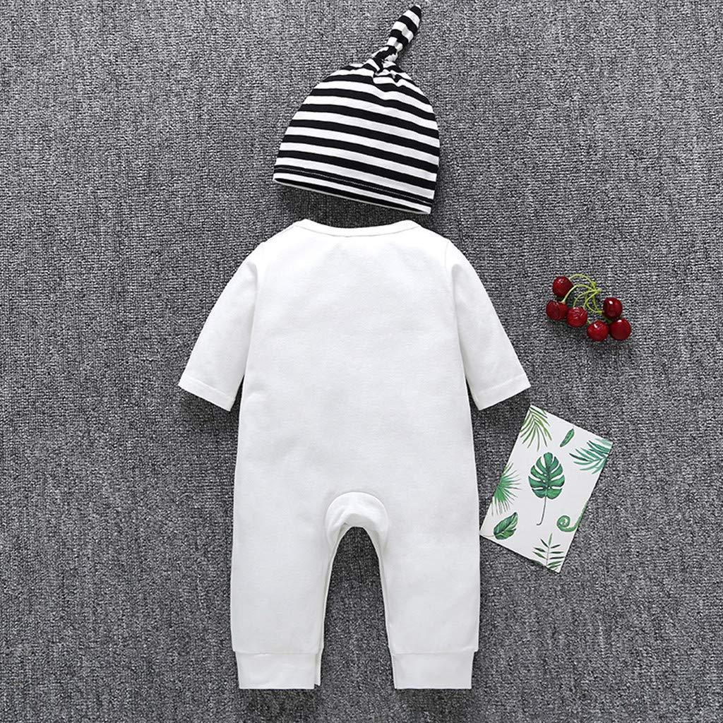 Adagod Panda Face Infant Toddler Baby Boy Cartoon Panda Hat Jumpsuit Romper Clothes White