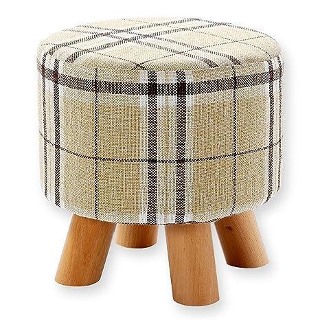 Amazoncom Juvale Ottoman Footstool Round Pouf Ottoman Foot Rest