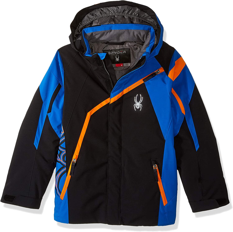 Spyder Challenger Enfants Ski Jacket Noir//Bleu