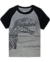 DOPHISH Little Boys T-Shirts Short Sleeve T-Rex Clothes Summer Toddler/Infant Kids Casual Tee