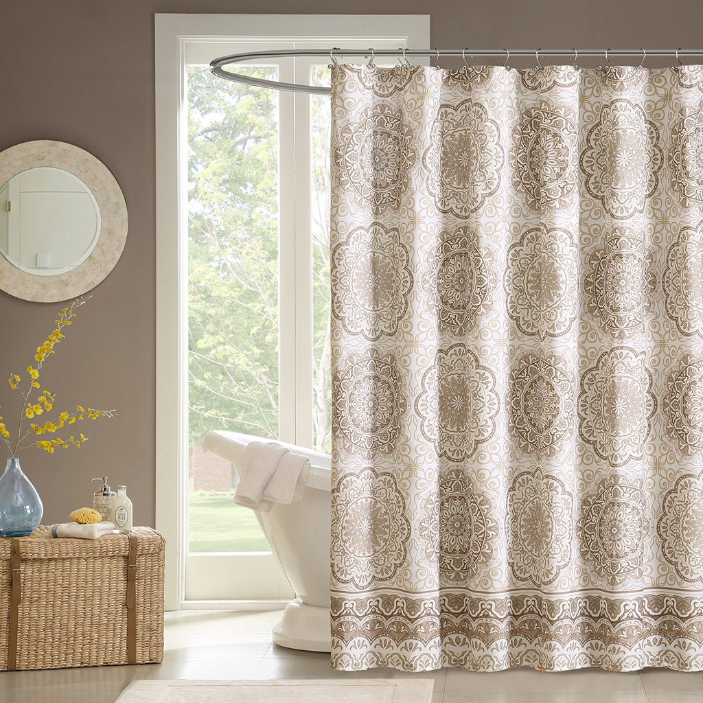 Amazon Madison Park MP70 1490 Tangiers Shower Curtain 72x72 Taupe72x72 Home Kitchen