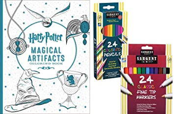 Harry Potter Magical Artifacts Coloring Book Sargent Art 24 Colored