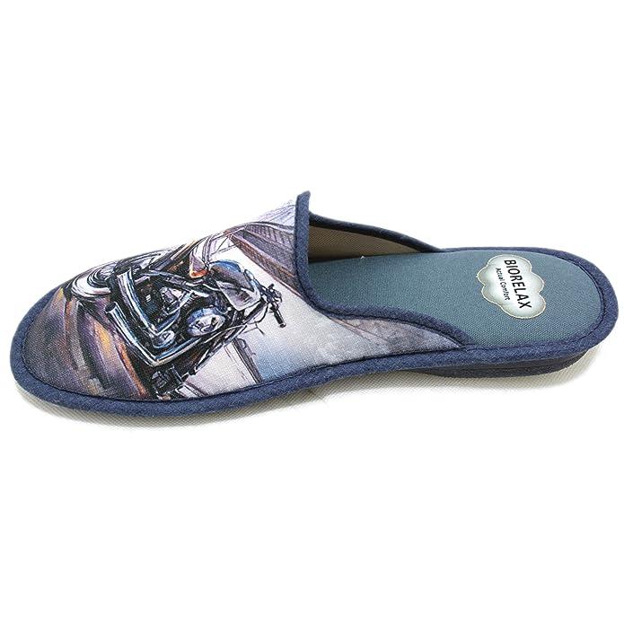 36a111bf Cosdam 1510 - Zapatillas de Estar por Casa Hombre Verano Biorelax con Moto  Azul Marino: Amazon.es: Zapatos y complementos