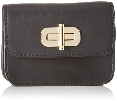 Tommy Hilfiger - Soft Leather Sm Flap Wallet, Carteras Mujer, Negro (Black)