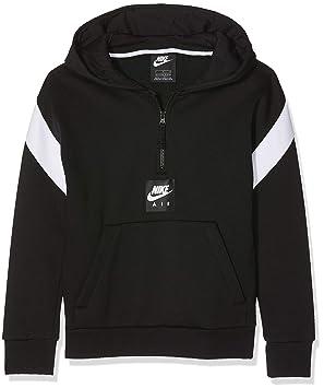 e45714009 Nike Kid's Air Half-Zip Sweatshirt, Black/White, Small: Amazon.co.uk ...