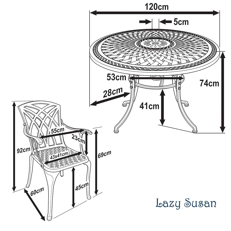 Table AprilCoussins Aluminium Bronze 120 de et Jardin Jardin Salon Ronde cm mouléColoris Ancienchaises Susan en Lazy de Alice chaises 4 8mPvyNnwO0