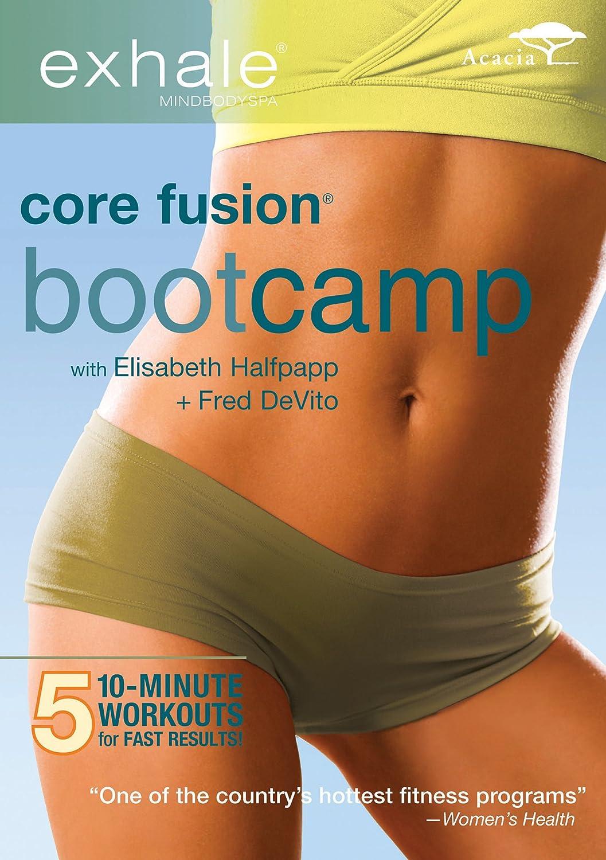 amazon com exhale core fusion bootcamp elisabeth halfpapp