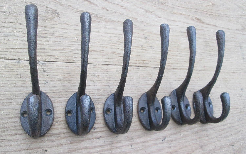 Gancho Doble Hierro Fundido Percha Ironmongery World/® 3001/AI 6/x Classic envejecido estilo industrial
