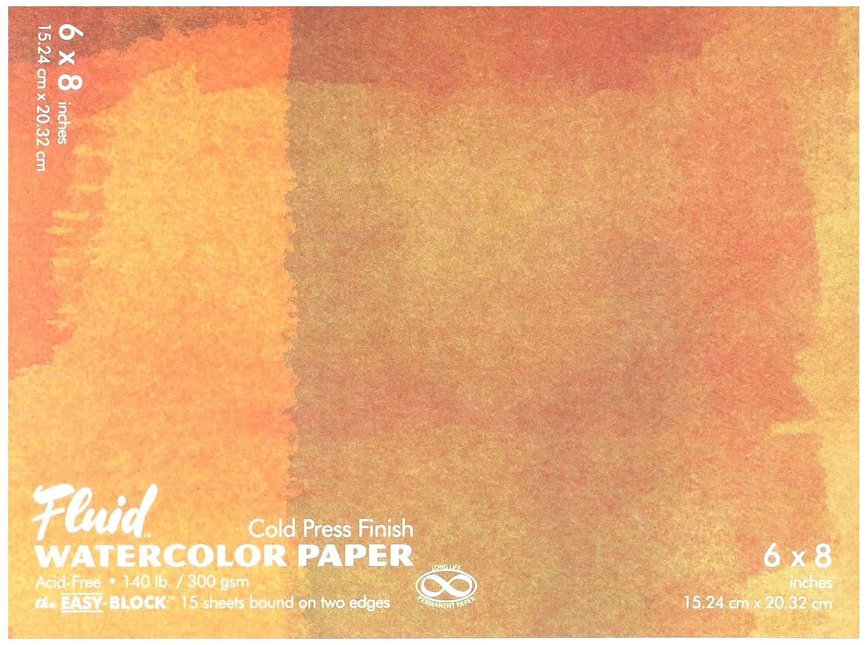 Fluid GAP880068 Watercolor Block 6 X 8 Darice