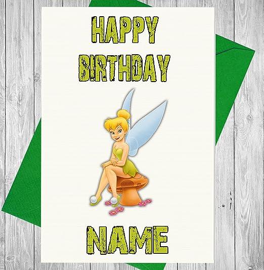 Campanilla Disney personalizado tarjeta de cumpleaños ...