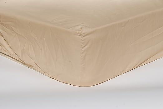 Algodonea - Sábana bajera ajustable 100% algodón. 150 cm. Alta ...