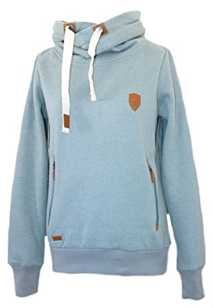 Be Cool Damen Hoodie Türkis Kapuzenpullover Sweatshirt (XXL)  Amazon ... a543bc6661